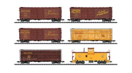 Trix 24914 - 6 teiliges Set Güterwagen der Union Pacific Railroad