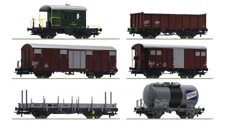 """Roco 76051 - 6 teiliges Set Güterwagen """"Gotthardbahn"""""""
