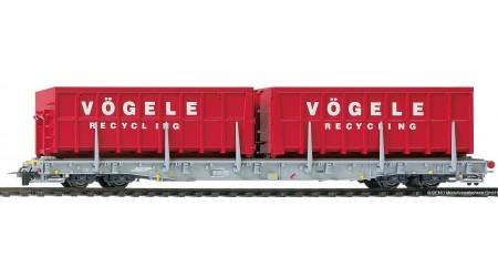 Bemo 2291 122 ACTS-Tragwagen Vögele Recycling R-w 8202 der RhB