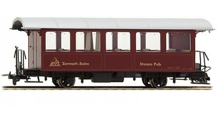 """Bemo 3239 527 Personenwagen """"Steam Pub"""" WR-S 2227 der BVZ"""