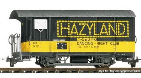 """Bemo 2274 337 Werbewagen """"Hazyland"""" Gk 527 der MOB"""