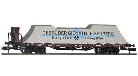 """Minitrix 13409 Plattformwagen """"Gebrüder Gienanth-Eisenberg"""" mit Bremserhaus, Epoche I"""