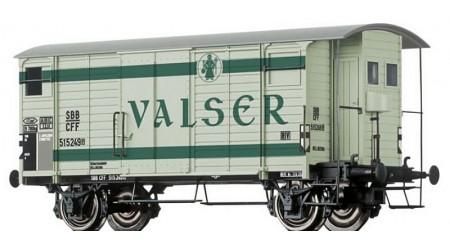 """Brawa 67854 Gedeckter Güterwagen K2 """"VALSER"""" der SBB"""