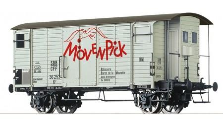 """Brawa 67858 Gedeckter Güterwagen K2 """"Mövenpick"""" der SBB"""