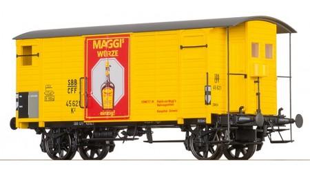 """Brawa 67859 Gedeckter Güterwagen K2 """"MAGGI"""" der SBB"""