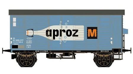 """Brawa 67869 Gedeckter Güterwagen K2 """"APROZ"""" der SBB"""