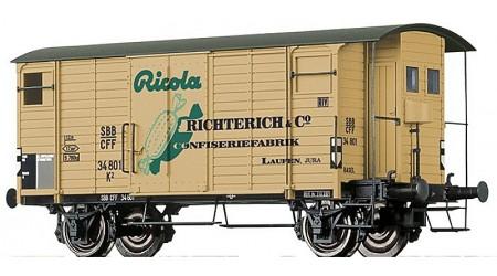 """Brawa 67860 Gedeckter Güterwagen K2 """"Ricola"""" der SBB"""