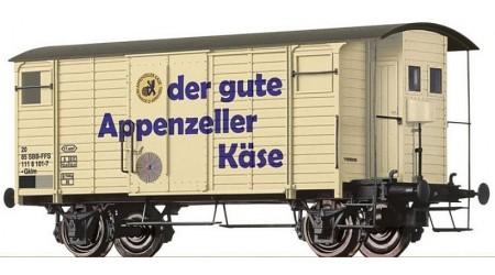 """Brawa 67863 Gedeckter Güterwagen K2 """"Appenzeller Käse"""" der SBB"""