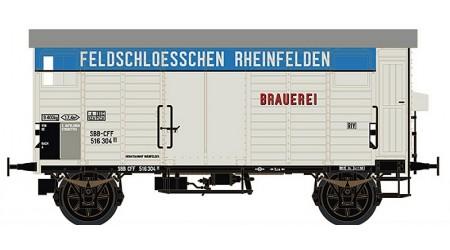 """Brawa 67866 Gedeckter Güterwagen K2 """"FELDSCHLÖSSCHEN RHEINFELDEN"""" der SBB"""