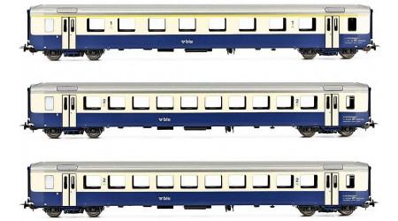 Piko 96793 - 3 teiliges Personenwagen-Set AC der BLS